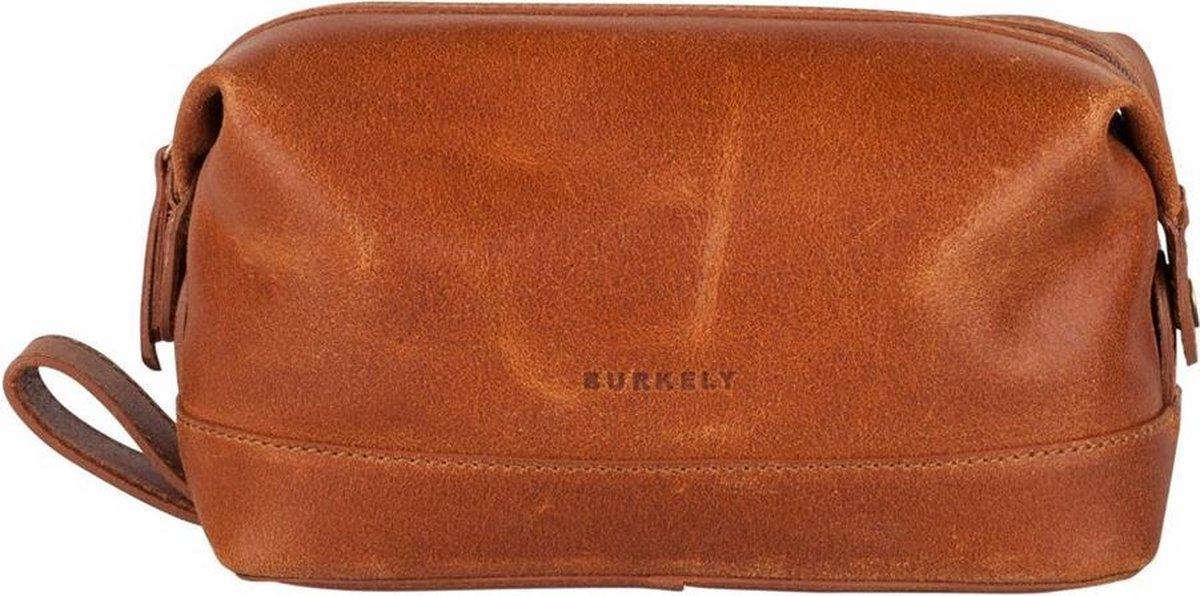 BURKELY Vintage Riley Leren Toilettas - Cognac