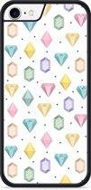 iPhone 8 Hardcase hoesje Diamonds