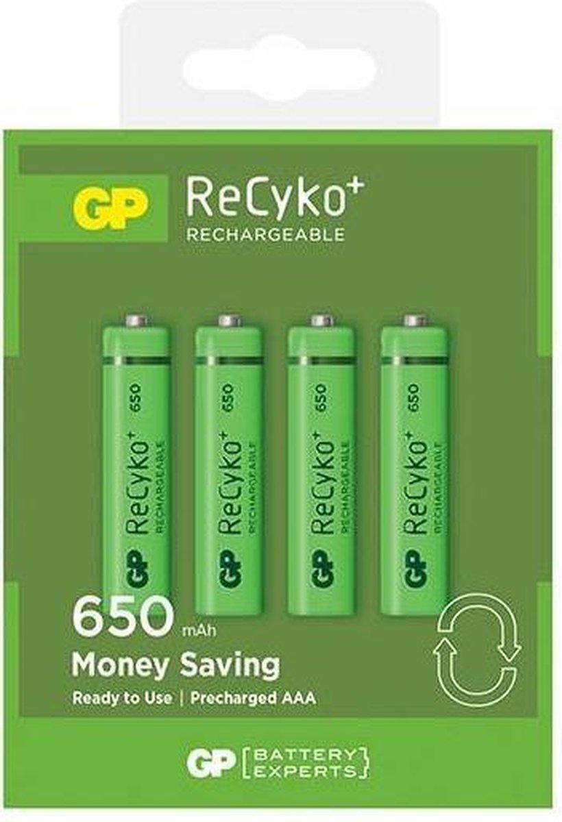 GP ReCyko Rechargeable AAA batterijen 650mAh - 4 stuks
