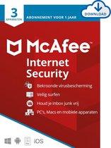 McAfee Internet Security - 12 maanden/3 apparaten