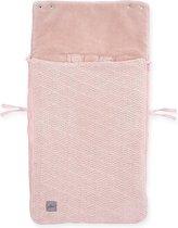 Jollein Voetenzak voor Autostoel & Kinderwagen - River Knit - Pale Pink