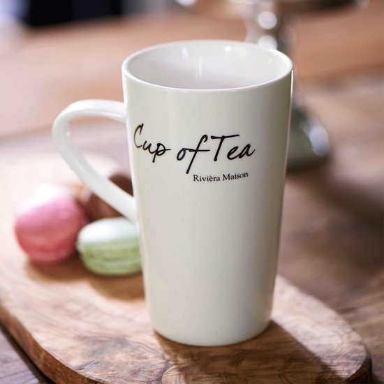 Rivièra Maison Classic Cup of Tea Mug - Theemok - Wit