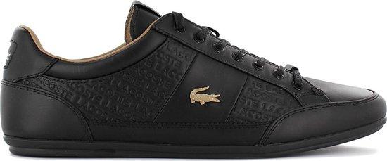 Lacoste Chaymon 120 - Heren Sneakers Sport Casual schoenen Zwart Goud 7-39CMA00511V7 - Maat EU 40 UK 6.5