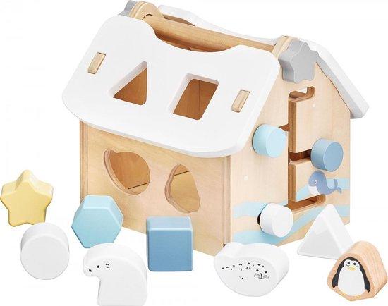 Mamabrum Houten Vormstoof Huis met Blokken