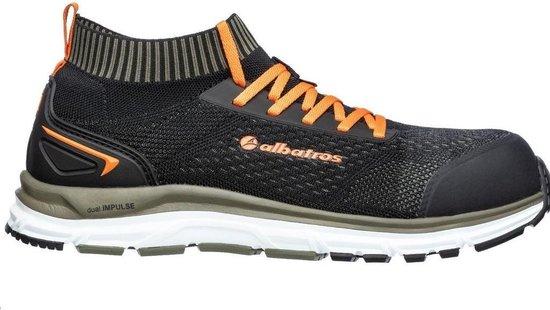 Albatros Mens Ultimate Impulse Low Lace Up Safety Shoe (Black/Olive)