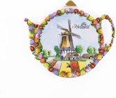 Theezakjeshouder Tulpenlandschap Holland - Souvenir