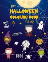 Cute Halloween Coloring Book for Kids