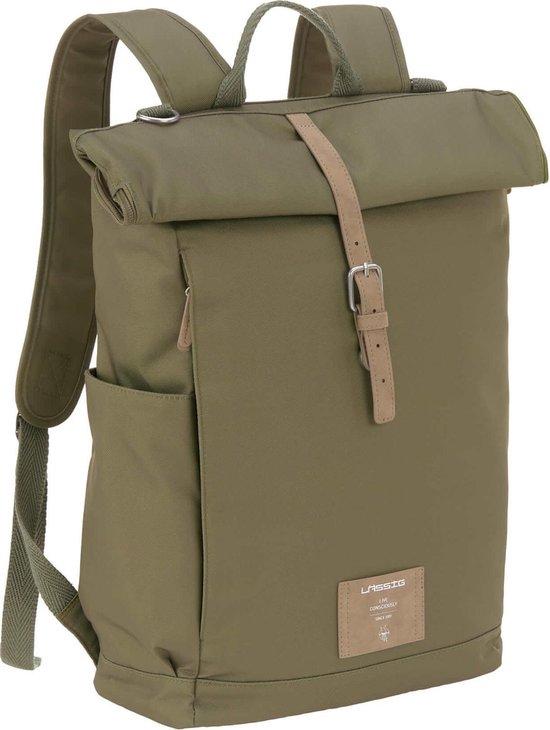 Product: LÄSSIG Luiertas Rolltop Backpack incl. verschoningsmatje - olive, van het merk Lässig