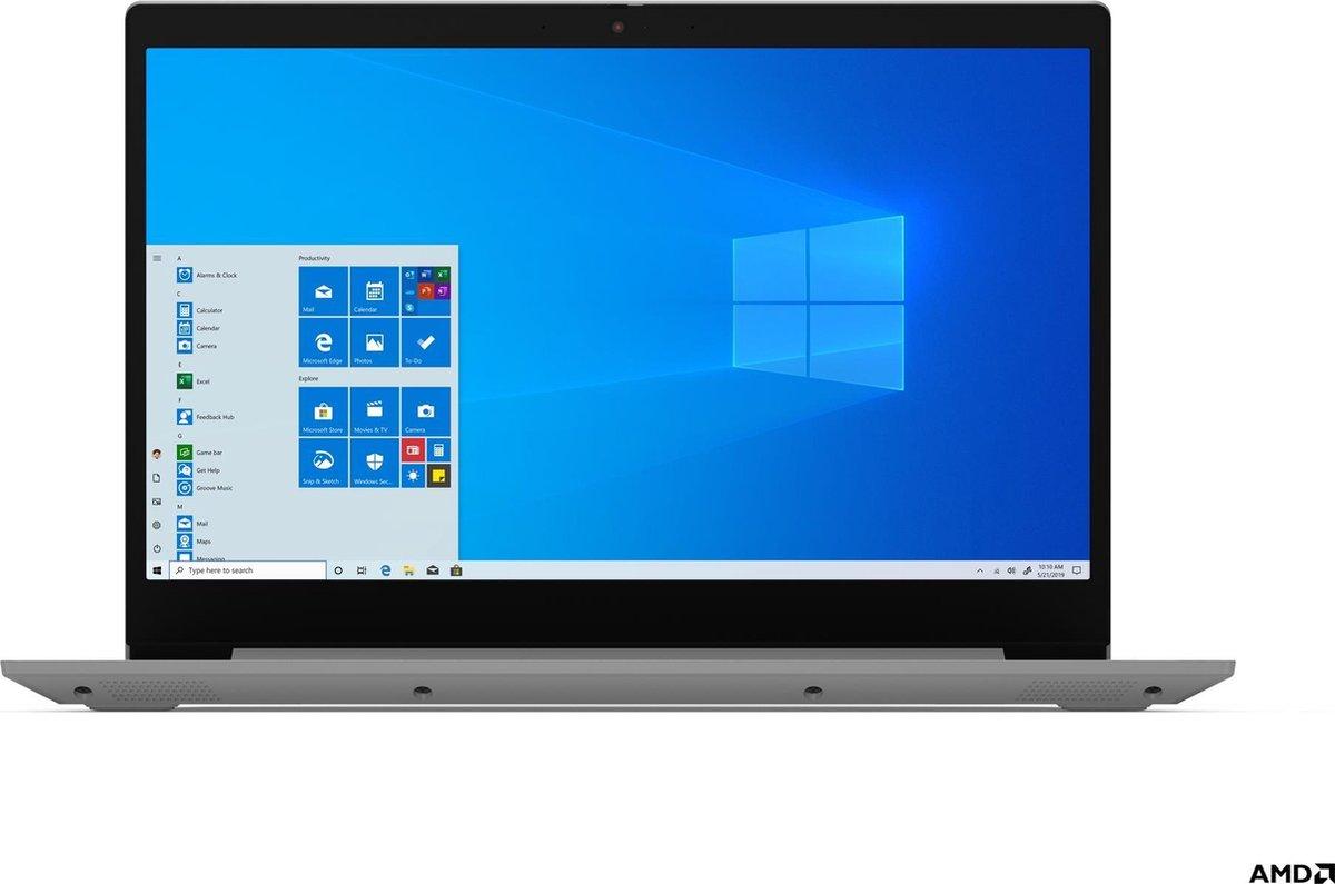 "Lenovo IdeaPad 3 Notebook 39,6 cm (15.6"") Full HD AMD Ryzen 3 8 GB DDR4-SDRAM 512 GB SSD Wi-Fi 5 (802.11ac) Windows 10 Home Grijs, Platina"