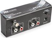 Phono voorversterker - Power Dynamics - PDX010 - Phono voorversterker - stereo - met RIAA correctie - Zwart