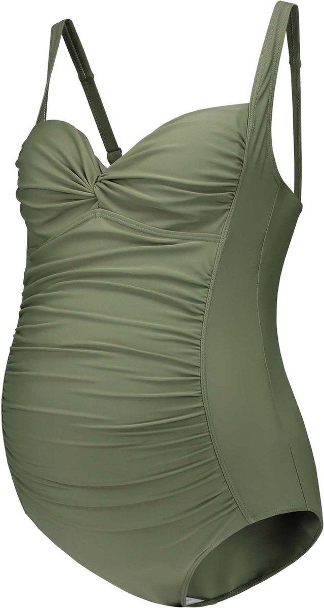 Pr natal Zwangerschapsbadpak Dames - Zwemkleding - Groen - Maat L