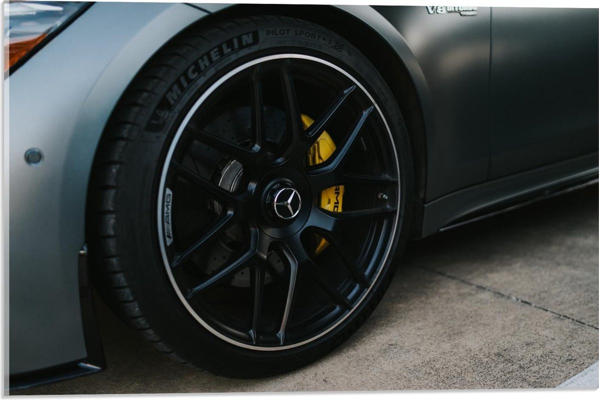 Plexiglas - Autowiel van Luxe Auto - 60x40cm Foto op Plexiglas (Wanddecoratie op Plexiglas)