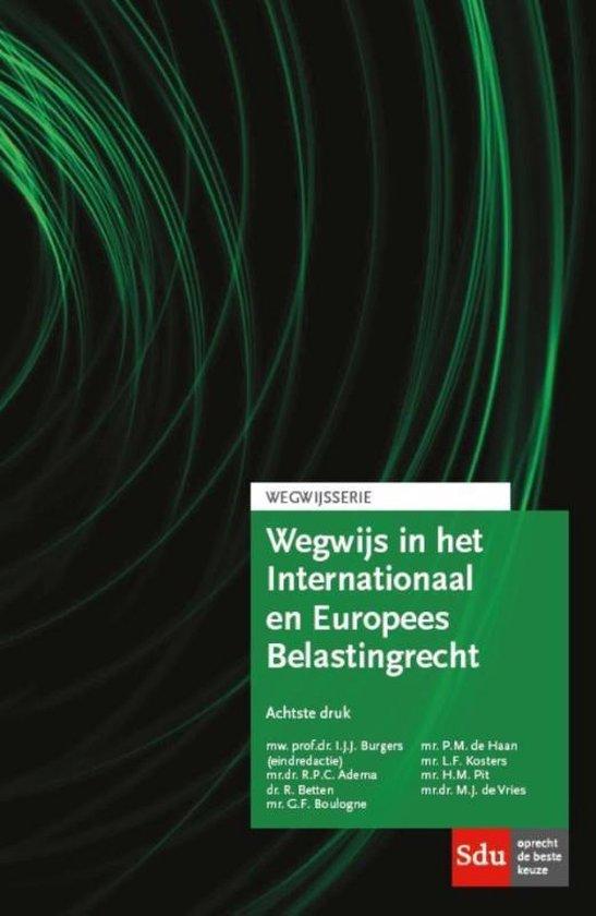 Boek cover Wegwijsserie  -   Wegwijs in het internationaal en Europees belastingrecht van R.P.C. Adema (Paperback)