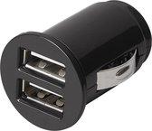 autolader USB dubbel 12/24 Volt 3,1 Ampère zwart blister