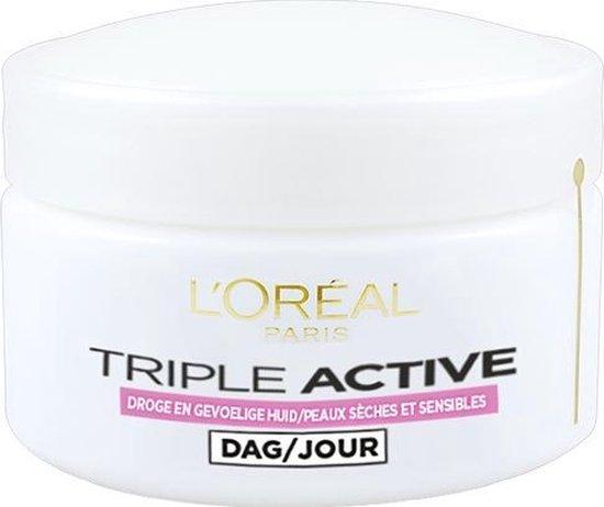 L'Oréal Paris Triple Active Hydraterende Dagcreme voor de Droge en Gevoelige...