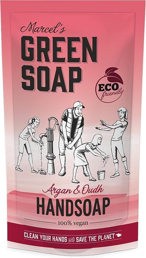 Marcel's Green Soap Handzeep Argan & Oudh Navul Stazak 500 ml