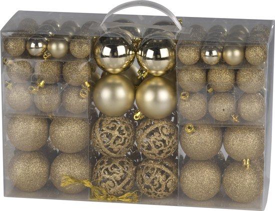 Christmas Gifts kerstballenset - 100 stuks - 3/4/6cm - Goud