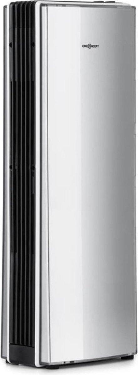 oneConcept St. Oberholz Office A luchtreiniger – ultracompacte ionisator met geïntegreerde ventilator, actieve kool- en rvs filter