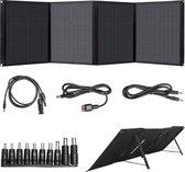 Beaudens Complete Draagbare Zonnepaneel 100W - 18V - Mono kristallijne zonnecellen - Opvouwbaar - Inklapbaar - Daglichtpaneel