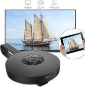WiFi Miracast - Mediaspeler - HDMI dongle - Mediastreamer - Miracast - TV stick - TV screencast mirror - 1080p - Airplay - USB voeding - Full HD