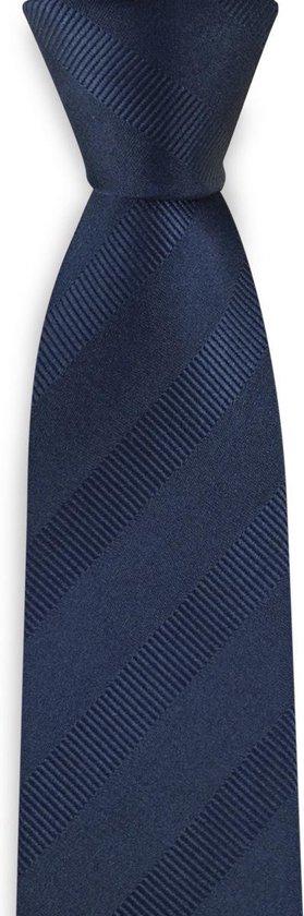 We Love Ties - Stropdas smal blauw - geweven zuiver zijde - marineblauw
