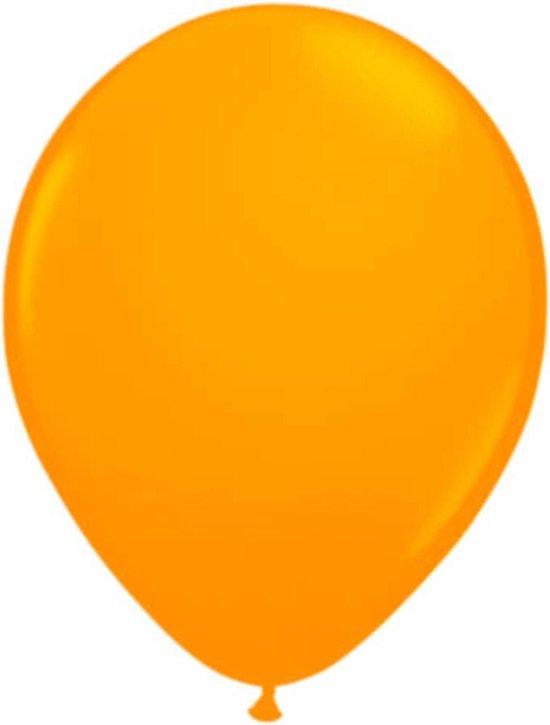 Neon oranje latex ballon 25 cm 8 stuks