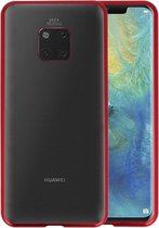 Magnetic Back Cover voor Huawei Mate 20 Pro Rood - Transparant