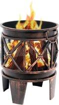 Heat - Vuurkorf Firecask - Vuurkorf aanbiedingen - Staal - Zwart