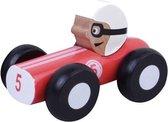 Jouéco Houten Raceauto 9 Cm Rood