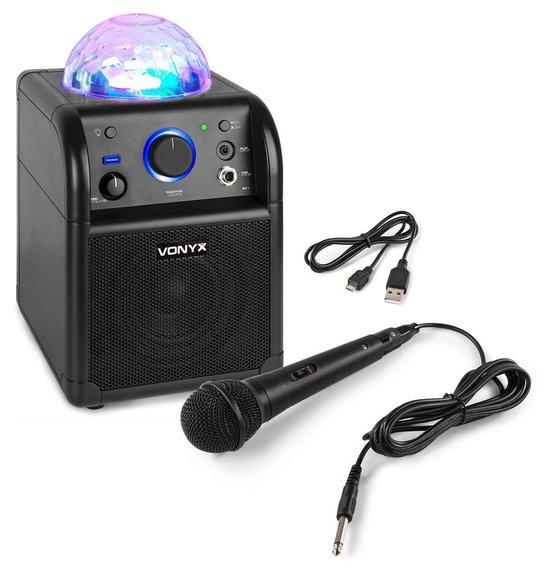 Karaoke set - Vonyx SBS50B - Zwarte karaokeset met Bluetooth, echo en microfoon