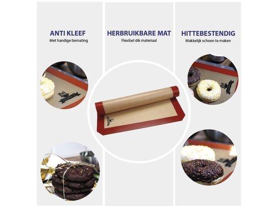Krumble Siliconen Bakmat - Anti-kleef - 42x30cm - Beige & Bruin