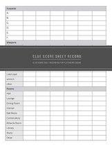 Clue Score Sheet
