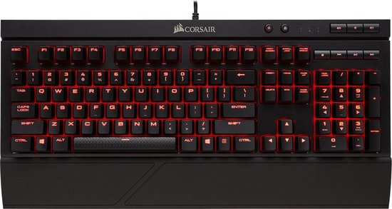 Corsair K68 Red LED Mechanisch Qwerty Gaming Toetsenbord - Cherry MX Red