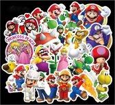 100 verschillende Super mario stickers circa 6 x 7 cm voor Agenda muur laptop koffer skateboard etc