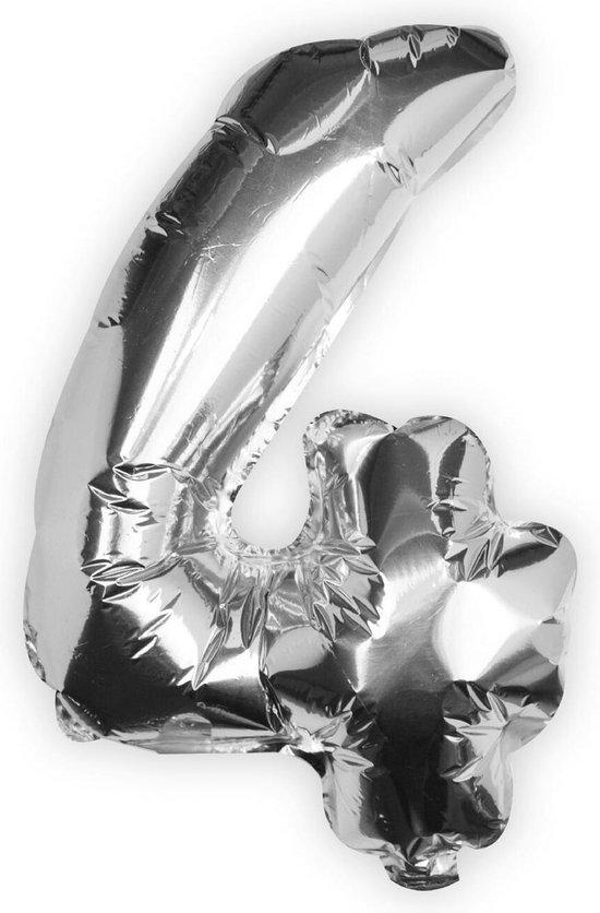 Ginger Ray Pick & Mix - Folieballon cijfer 4 - zilver