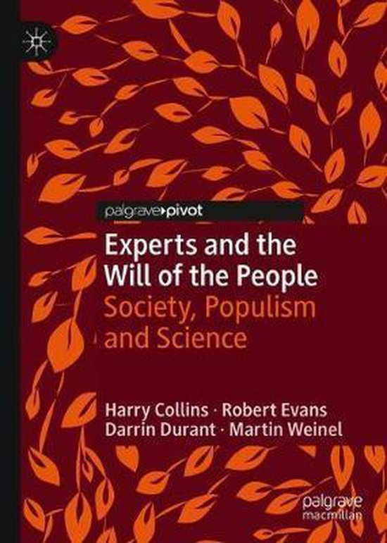Boek cover Experts and the Will of the People van Harry Collins (Hardcover)