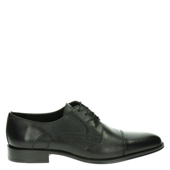 Nelson heren lage nette schoen - Zwart - Maat 45