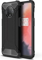 OnePlus 7T Hoesje - Armor Hybrid - Zwart