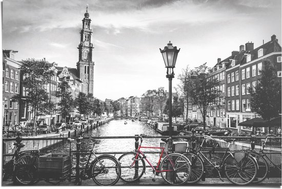 De Amsterdamse grachten Zwart-wit - Poster 91.5 x 61 cm