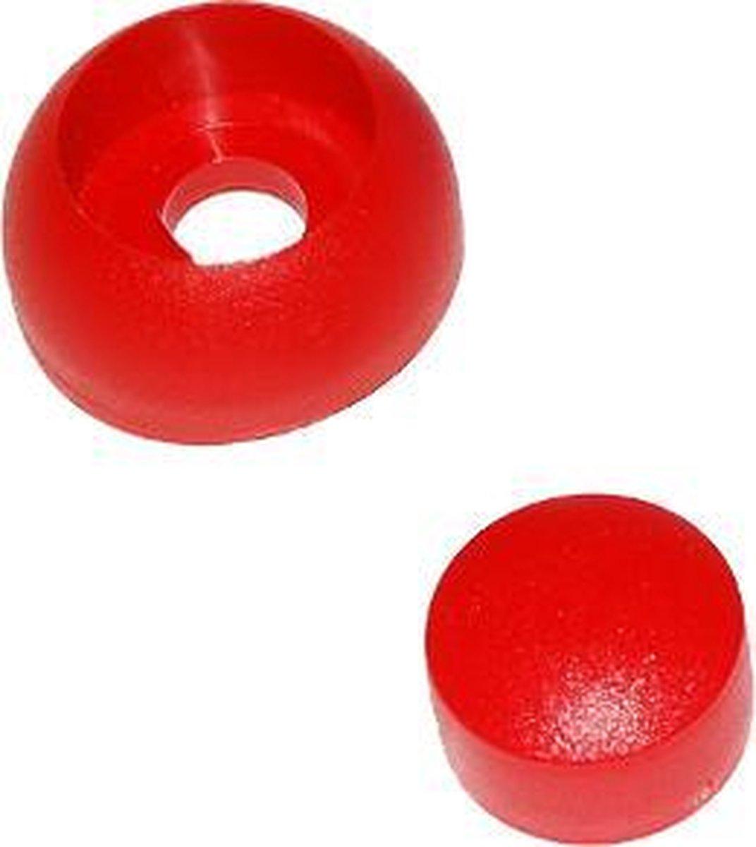 2-delige afdekdop voor bout en moer Rood voor ronde Palen M8/M10/M12 (1 stuk)