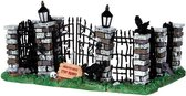 Lemax - Spooky Iron Gate And Fence - Set Of 5