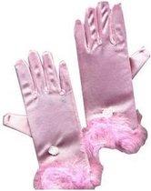 Roze handschoenen voor meisjes - Verkleedattribuut