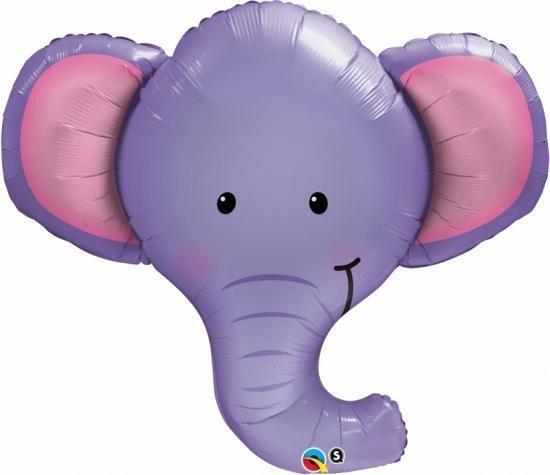 Olifant dieren folie ballon 90 cm
