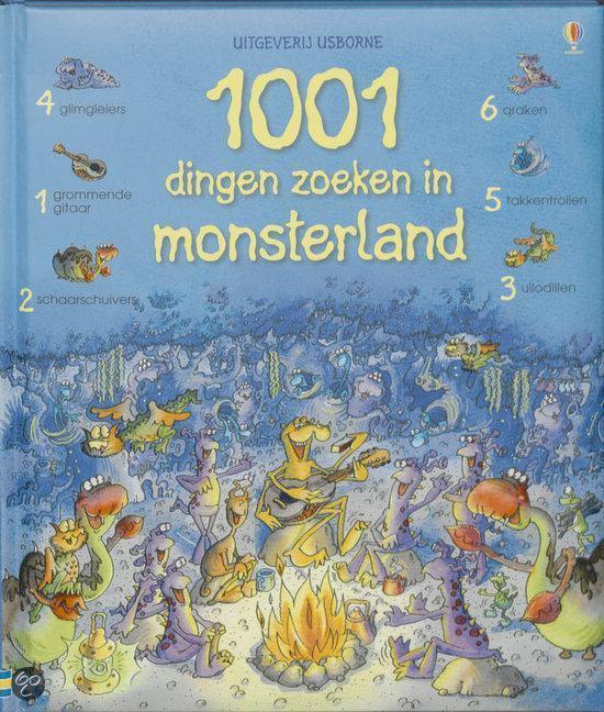 Cover van het boek '1001 dingen zoeken in monsterland' van Gillian Doherty