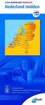 ANWB wegenkaart - Nederland midden 1:200000