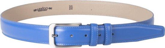 Leren Heren Riem Of Leren Dames Riem – 3.5 cm Breed – Lichtblauw – Taillemaat 115 cm