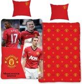 Manchester United dekbedovertrek - eenpersoons - 140x200 - Rood