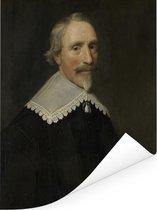 Portret van Jacob Cats - Schilderij van Michiel Jansz van Mierevelt Poster 120x160 cm - Foto print op Poster (wanddecoratie woonkamer / slaapkamer) XXL / Groot formaat!