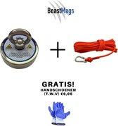Premium Vismagneet Set -180 kg - 10m  touw - Inclusief Handschoenen - Geen Schroefborgmiddel Nodig