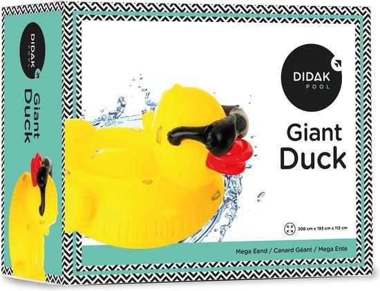 Didak Pool Opblaasbare Mega Eend luchtmatras Duck - Opblaasfiguur